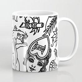 White print Coffee Mug