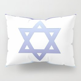 flag of Israel - with color gradient Pillow Sham
