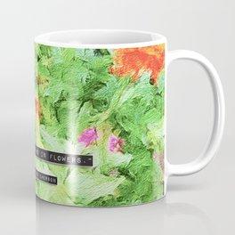 Emerson on Flowers Coffee Mug