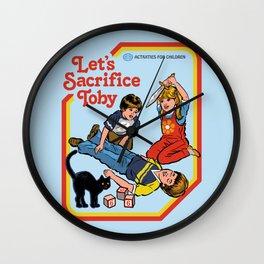 LET'S SACRIFICE TOBY Wall Clock