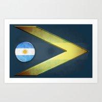 argentina Art Prints featuring Argentina by ilustrarte