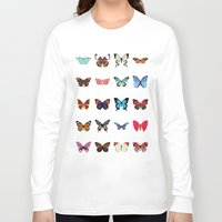 butterflies Long Sleeve T-shirts featuring Butterflies by Dorothy Leigh