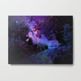 Fantasy Path Purple Metal Print