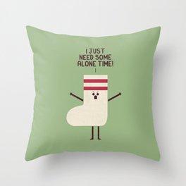 Angry Sock Throw Pillow
