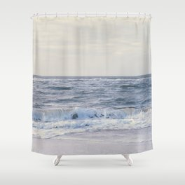 Walk at the beach Shower Curtain