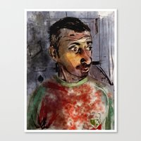 selfie Canvas Prints featuring Selfie by Jonas Ericson