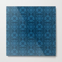 Blue patchwork 2 Metal Print