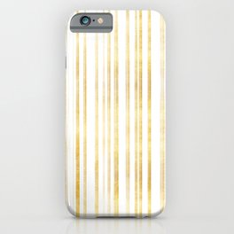 Gold and White Stripes iPhone Case