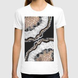Yin Yang Agate Glitter Glam #8 #gem #decor #art #society6 T-shirt
