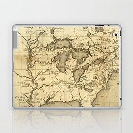 Great Lakes Map - 1737 Laptop & iPad Skin