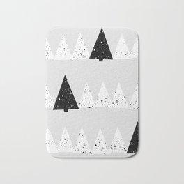 Snowy Forest Bath Mat