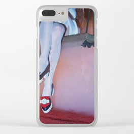 I'd like to take you on a date. Sixteen past eight Clear iPhone Case