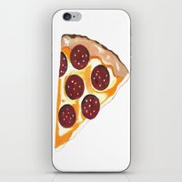 pizza iPhone & iPod Skins featuring Pizza by Sartoris ART
