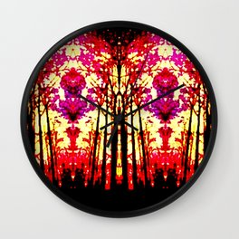 Sunset Stain Glass Wall Clock