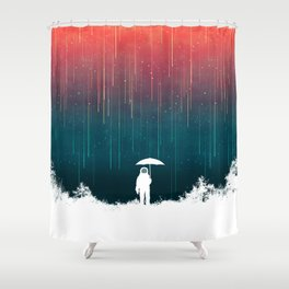 Meteoric rainfall Shower Curtain