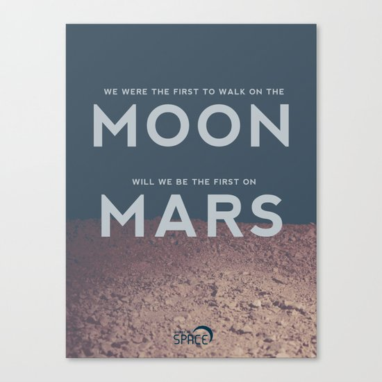 From the Moon to Mars Canvas Print