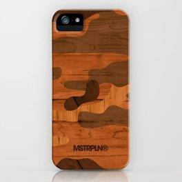 Modern Woodgrain Camouflage / Woodland Print iPhone Case