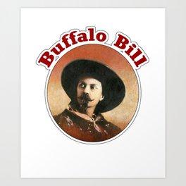 Buffalo Bill Portrait Art Print