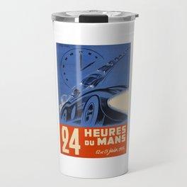 Le Mans 1954, 24hs Le Mans, 1954, original, vintage poster Travel Mug