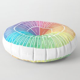 Emotion Wheel Floor Pillow