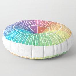 Emotion Wheel Floor Pillow