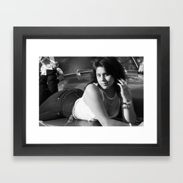 Alicia Came Down From Denver Framed Art Print