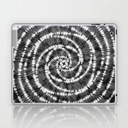 Black & White Spiral Tie Dye  Laptop & iPad Skin