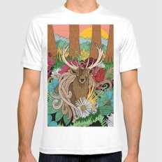 Spring Woodland Mens Fitted Tee White X-LARGE