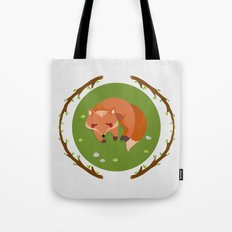 sleeping mr fox Tote Bag