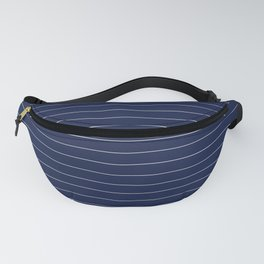 Navy Blue Pinstripe Lines Fanny Pack