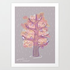 A Home is - Autumn Art Print
