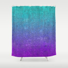 Tropical Twilight Glitter Gradient Shower Curtain