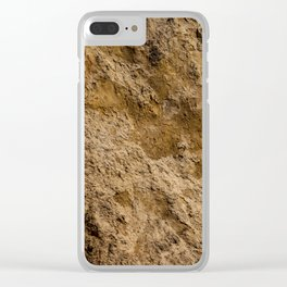 Clay texture Clear iPhone Case