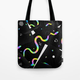 Glitchy Pixelated Snake Tote Bag