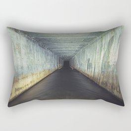 Tunnel of Black Rectangular Pillow