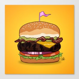 Bacon Cheeseburger Canvas Print