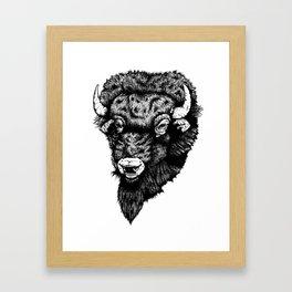 BISON HEAD Framed Art Print
