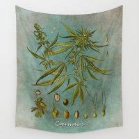 cannabis Wall Tapestries featuring Cannabis by jbjart