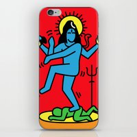 keith haring iPhone & iPod Skins featuring Shiva Keith Haring Tribute by Tshirtbaba