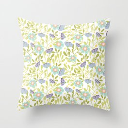Sage and Poppy Throw Pillow