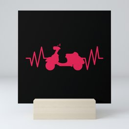 SCOOTER HEARTBEAT Scooter Life Gift Moped Scooter Mini Art Print