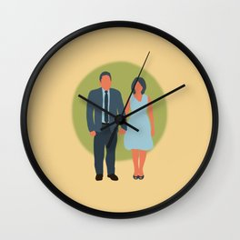 Save the Date - The Couple - Love Wall Clock