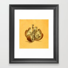 Steampunk Orange Framed Art Print