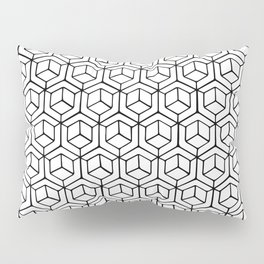 Hand Drawn Hypercube Pillow Sham