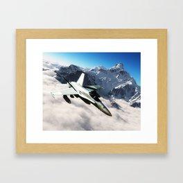 F-18 Hornet Framed Art Print