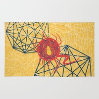 spider Area & Throw Rugs featuring SPIDER by Armin Barducci