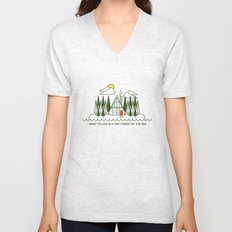 Tiny Forest by the Sea Unisex V-Neck