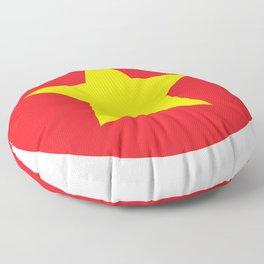 Vietnam Flag Floor Pillow