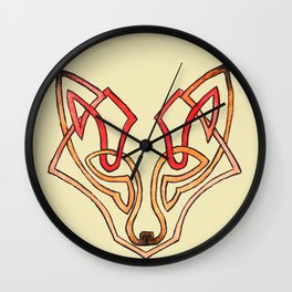 Celtic fox - celtic knot Wall Clock