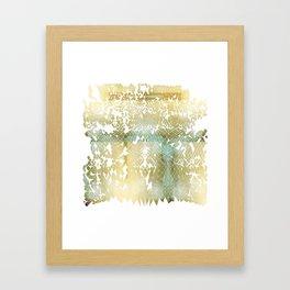 Fractured Gold Framed Art Print